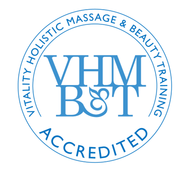 The VHMBT Logo is the property of Vitality Holistic Massage and Beauty Training